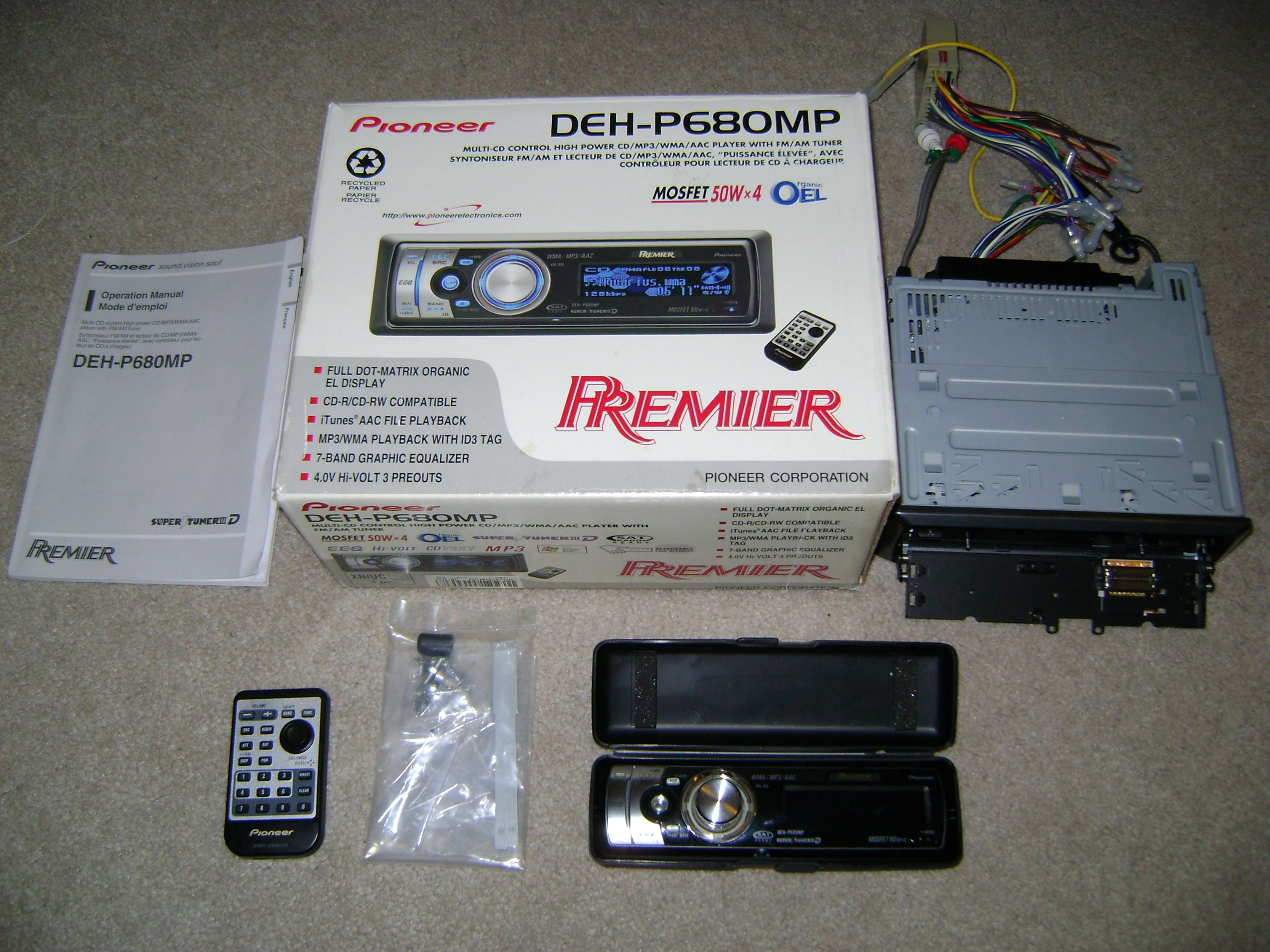 pioneer premier in dash cd player concept electronics rh conceptelectronics916 com Pioneer DEH- X6500BT Pioneer Deh Wiring Harness Diagram