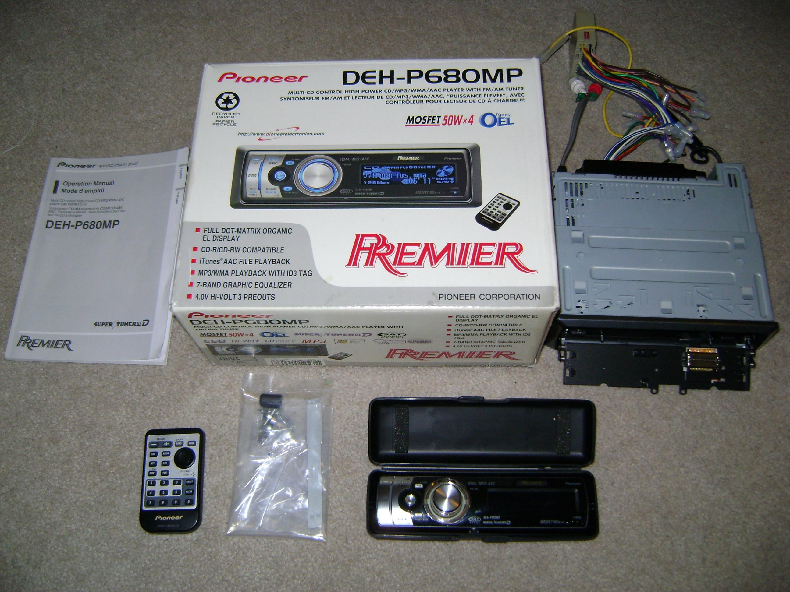 pioneer premier in dash cd player concept electronics. Black Bedroom Furniture Sets. Home Design Ideas